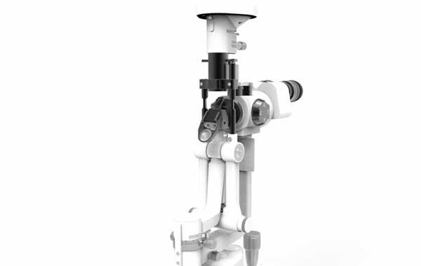 Lâmpada de fenda para exames oftalmológicos